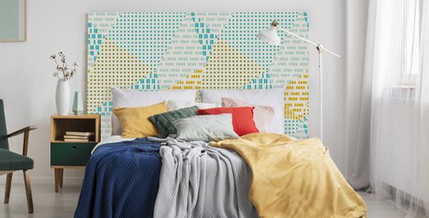 Färgglad väggdekor med geometri