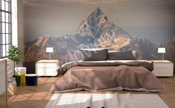 Fototapet 3D med berg