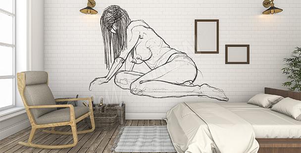 Fototapet akt till sovrummet