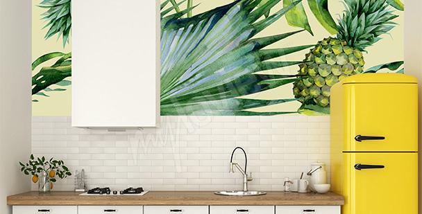 Fototapet ananas till köket
