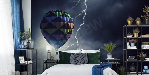 Fototapet ballong i stormen