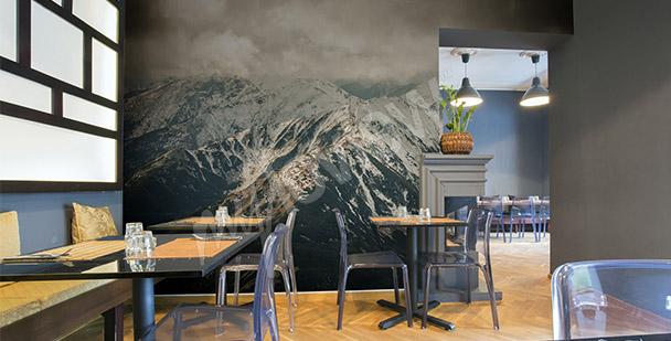 Fototapet berg i vinter