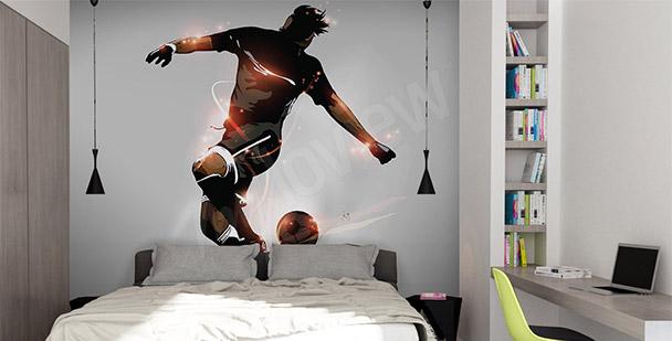 Fototapet fotbollspelare