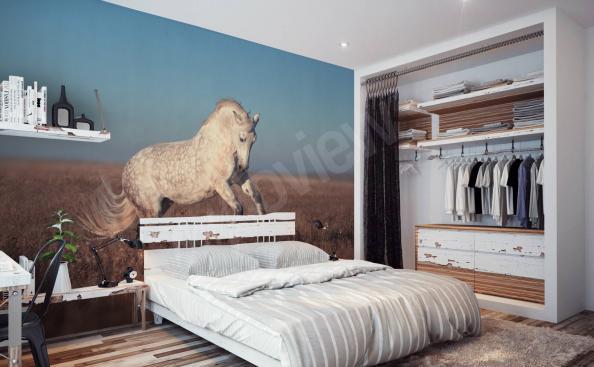 Fototapet häst till sovrummet