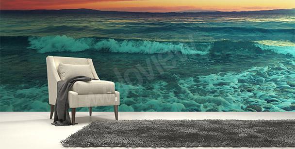 Fototapet hav och vågor