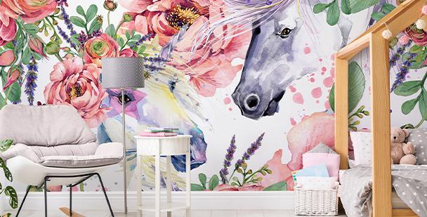 Fototapet i floral stil