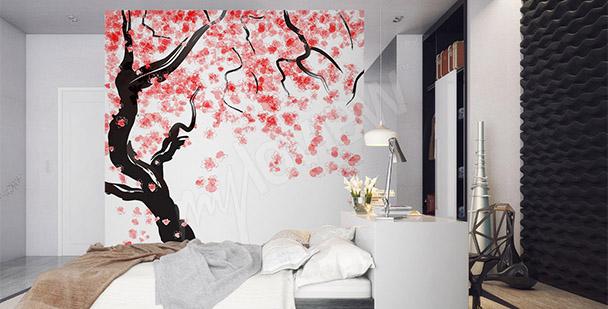 Fototapet japansk körsbär