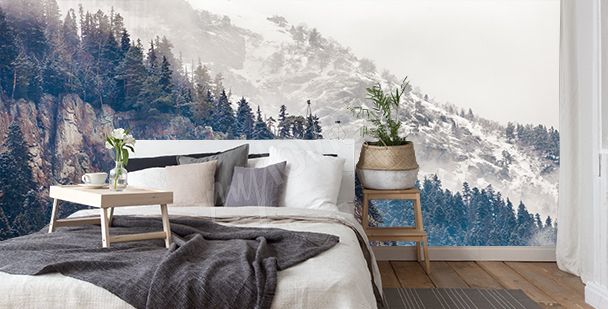 Fototapet med berg till sovrummet