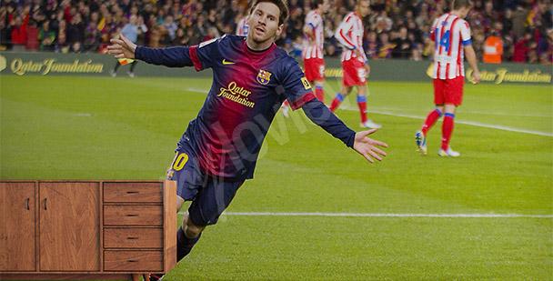 Fototapet med fotbollspelaren