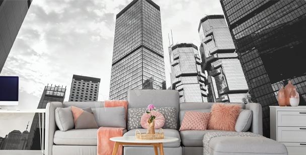 Fototapet med Hongkongs byggnader
