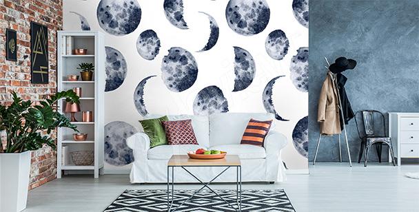 Fototapet med månens faser