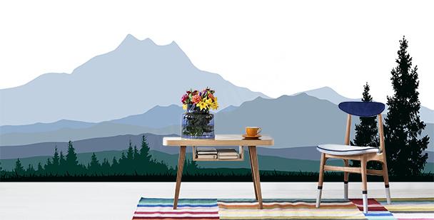 Fototapet med minimalistiska höjder