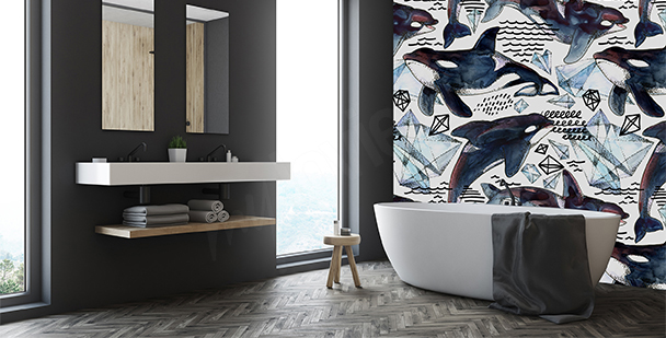 Fototapet med orker till badrummet