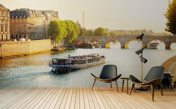 Fototapet med Paris landskap