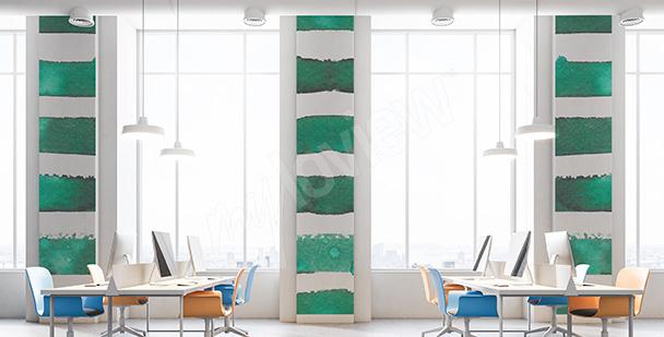 Fototapet med smaragdremsor