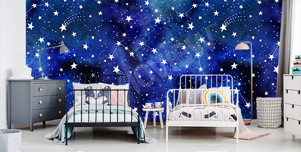 Fototapet med stjärnkonstellationer
