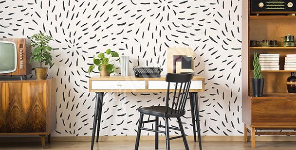 Fototapet med svartvitt mönster