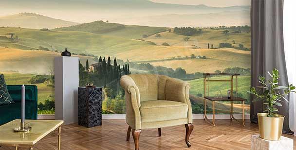 Fototapet med Toskanien landskap