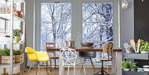 Fototapet med vinterlandskap