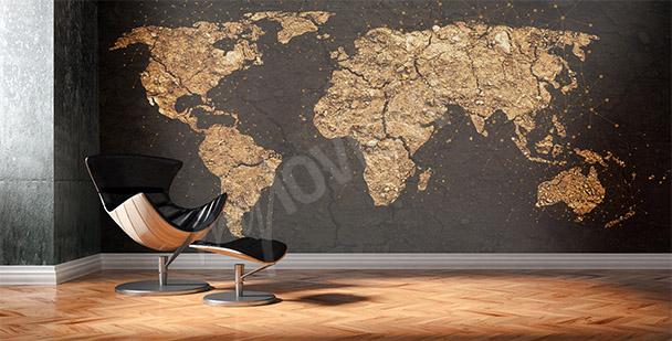 Fototapet modern världskarta