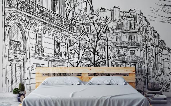 Fototapet Paris stomme