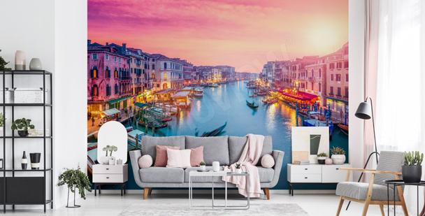 Fototapet solnedgång i Venedig