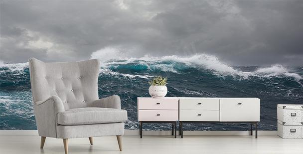 Fototapet storm i havet