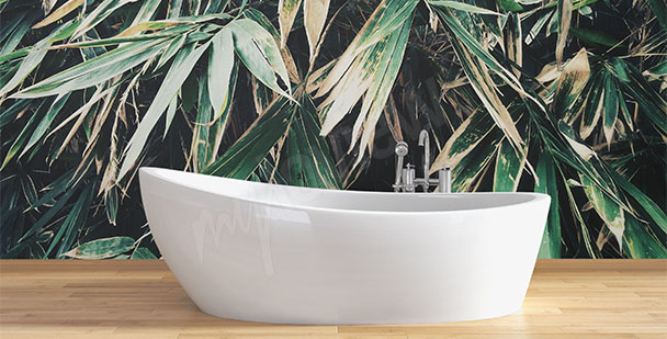 Fototapet till badrummet blad