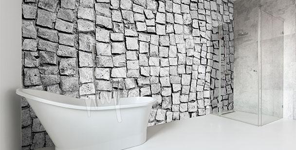 Fototapet till badrummet sten