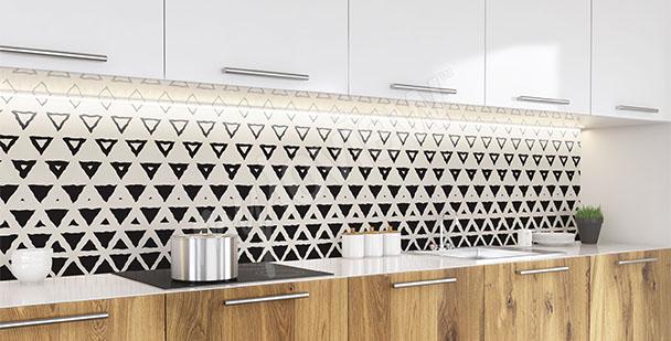 Fototapet till köket trianglar