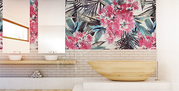 Fototapet tropisk till badrummet