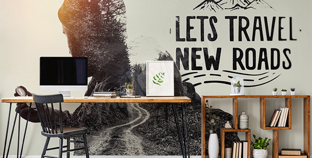 Fototapet typografi med motivation