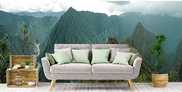 Fototapet utsikt över Machu Picchu