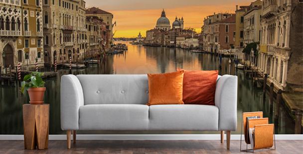 Fototapet Venedig vid solnedgången