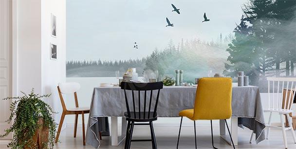 Fototapet vinterlandskap
