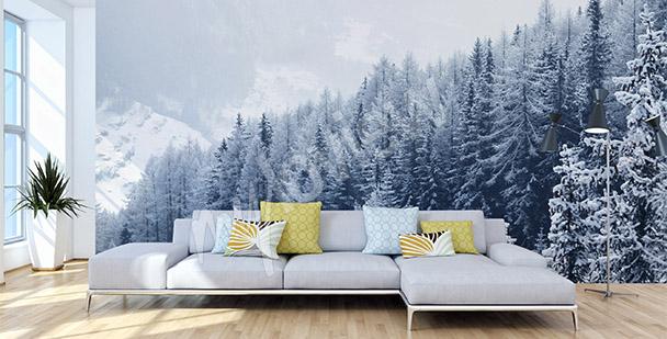 Fototapet vinterträd