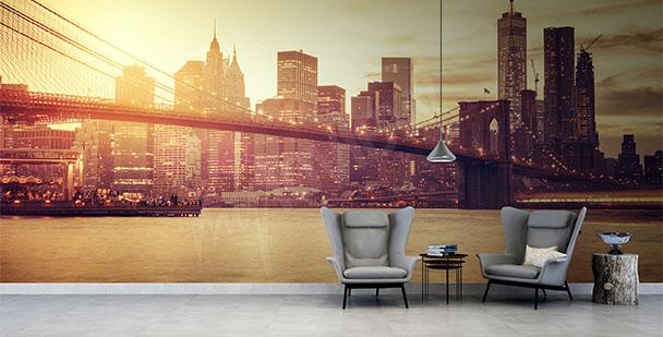 Fototapeten bro över New York