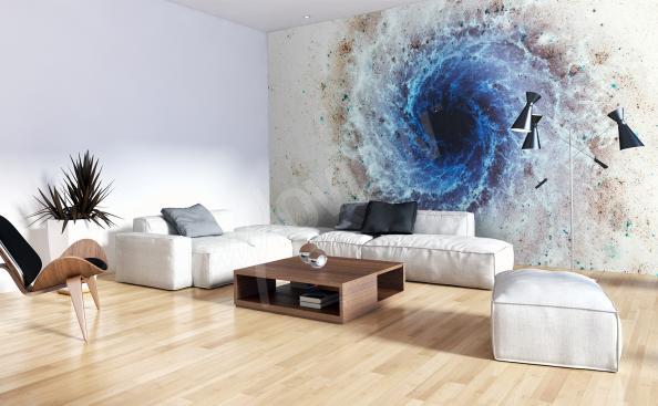 Fototepeter rymd för ett modernt vardagsrum