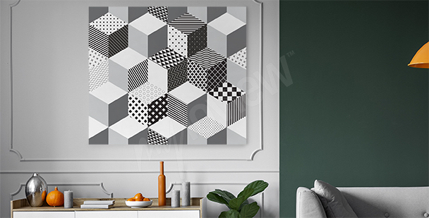 Geometrisk 3D canvastavla