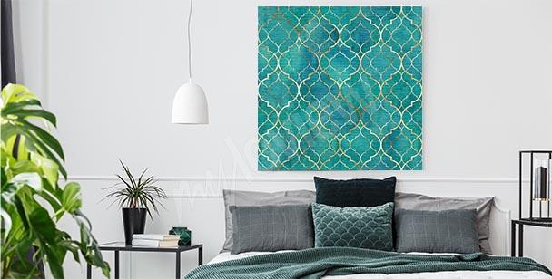 Geometrisk canvastavla med mönster