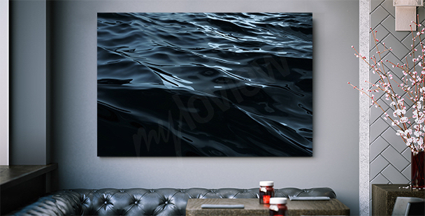 Grafisk canvastavla med havet
