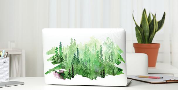 Grönt väggdekor med akvarell