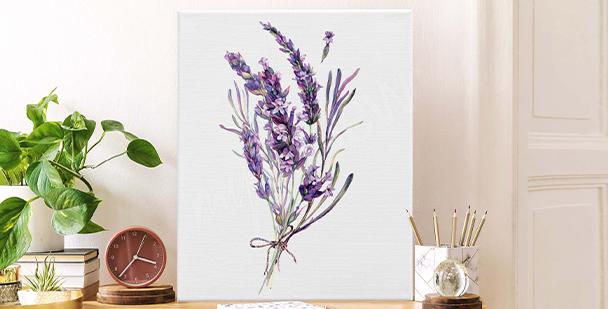 Minimalistisk canvastavla lavendel