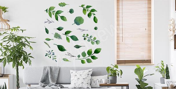Minimalistisk väggdekor med grönska