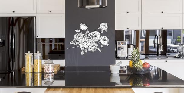 Minimalistisk väggdekor till köket