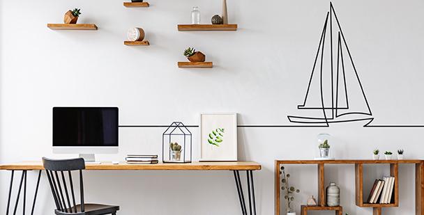 Minimalistisk väggdekor till kontoret