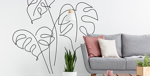 Minimalistiskt väggdekor till vardagsrum