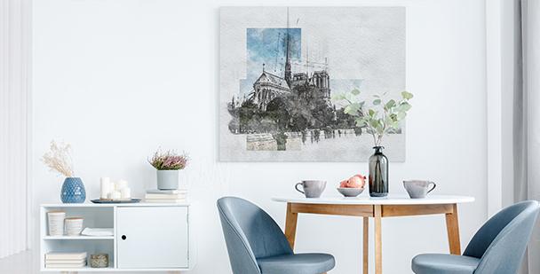 Modern canvastavla av Paris
