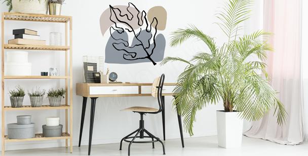 Modern Väggdekor med blad