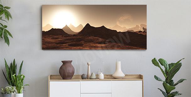 Panorama canvastavla i hallen